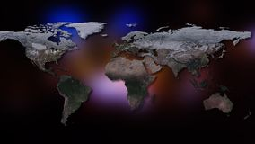 3D rendering of planet Earth. You can see continents, cities. Elements of this image furnished by NASA. 3D rendering of planet Earth. You can see continents Royalty Free Stock Image