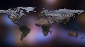 3D rendering of planet Earth. You can see continents, cities. Elements of this image furnished by NASA Royalty Free Stock Photo