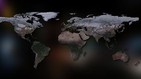3D rendering of planet Earth. You can see continents, cities. Elements of this image furnished by NASA Stock Images