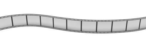 3d rendering pojedynczy ekranowy pasek układający w zwrotach i chyłach na białym tle Royalty Ilustracja