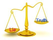 3D rendering prawda versus kłamstwo sprawiedliwości pojęcie ilustracja wektor