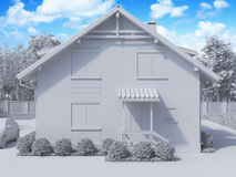 3d rendering of private suburban, two-story house in a modern st Stock Photography