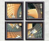 3D rendering puff pixels artwork gallery Stock Photos