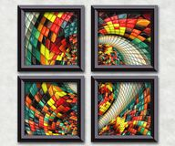 3D rendering puff pixels artwork gallery Stock Image