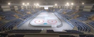 3d rendering pusty hokejowy stadium, żadny ludzie royalty ilustracja