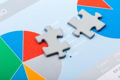 3d rendering puzzle pieces on business background royalty free stock images