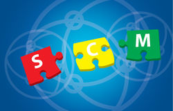 3d rendering of puzzle pieces Stock Image
