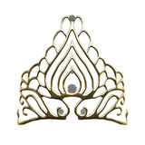 3D Rendering Queens Crown on White Royalty Free Stock Images