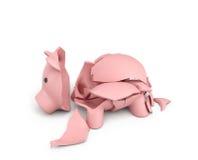 3d rendering różowy ceramiczny prosiątko bank Obraz Royalty Free