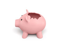 3d rendering różowy ceramiczny prosiątko bank Obraz Stock