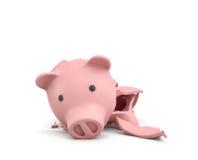 3d rendering różowy ceramiczny prosiątko bank Obrazy Royalty Free