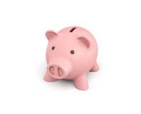 3d rendering różowy ceramiczny prosiątko bank odizolowywający na białym tle Zdjęcie Royalty Free