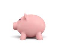 3d rendering różowy ceramiczny prosiątko bank odizolowywający na białym tle Fotografia Stock
