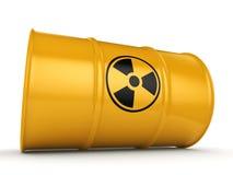 3D rendering radioactive barrel Royalty Free Stock Photos