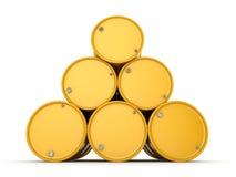3D rendering radioactive barrels Royalty Free Stock Photo