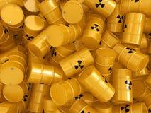 3D rendering radioactive barrels Stock Image