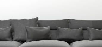 Realistic Sofa Cushions Closeup. 3D Rendering Of Realistic Sofa Cushions Closeup Royalty Free Stock Photo