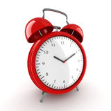 3D rendering Red alarm clock Stock Image