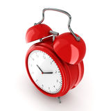 3D rendering Red alarm clock Stock Photo