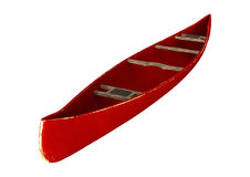 3D Rendering Red Canoe on White Royalty Free Stock Image