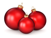 3D rendering red Christmas ball. On a white background Stock Photography