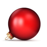 3D rendering red Christmas ball. On a white background Stock Photos