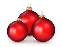 3D rendering red Christmas ball. On a white background Stock Images