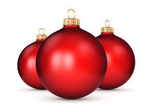 3D rendering red Christmas ball. On a white background Royalty Free Stock Image
