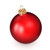 3D rendering red Christmas ball Stock Photos