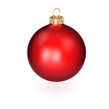 3D rendering red Christmas ball. On a white background Royalty Free Stock Photos