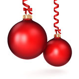 3D rendering red Christmas ball Stock Image