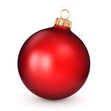 3D rendering red Christmas ball. On a white background Stock Image