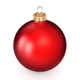 3D rendering red Christmas ball. On a white background Stock Photo