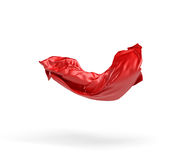 3d rendering of a red cloth draped over an invisible object and hanging on white background. Royalty Free Stock Images