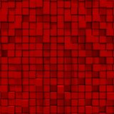 3d rendering of red cubic random level background. Stock Photography