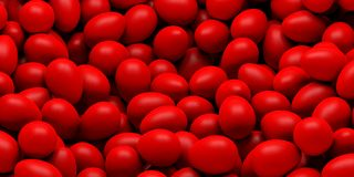 3d rendering red eggs background Royalty Free Stock Photo