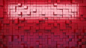3D rendering. Red extruded cubes. Abstract background. Loop. stock footage