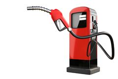 3d rendering of a red gas pistol with gasoline dispenser pumps i Royalty Free Stock Photos