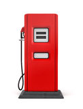 3d rendering of red gas pump in front view isolated on white background. Royalty Free Stock Image