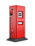 3d rendering of red gas pump isolated on white background. Fuel dispenser. Fill full tank. Road trip Royalty Free Stock Photo