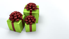 3d rendering red and green christmas gift box with white light. 3d rendering by 3dsmax program Royalty Free Stock Photos