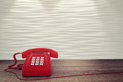 3D rendering of red telephone Stock Photography