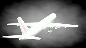 3d rendering of a reflective airplane with green outlined lines Stock Images