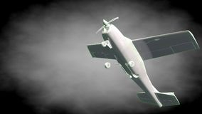 3d rendering of a reflective airplane with green outlined lines Royalty Free Stock Images