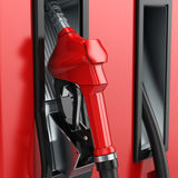 3D rendering refueling nozzle Royalty Free Stock Images