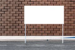 3d rendering, reklamowy billboard na stronie droga ilustracja wektor