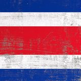 Scratched Republic of Costa Rica flag Royalty Free Stock Photos