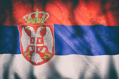 3d rendering of a Republic of Serbia flag Royalty Free Stock Photo