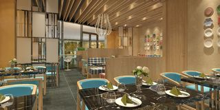 3D rendering of a restaurant interior design Stock Images