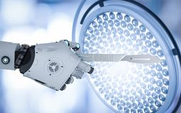 Robot holding scalpel Stock Photography